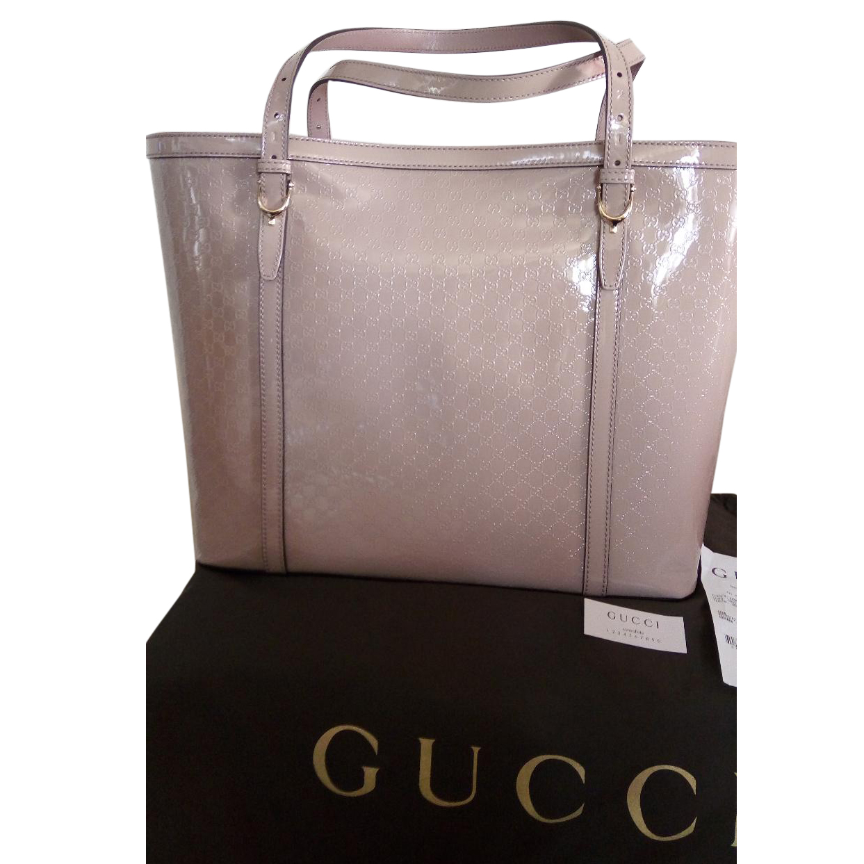 ffc50851c97c98 Gucci Borsa Nice Vernice Micro Guccissima Leather Bag | HEWI London