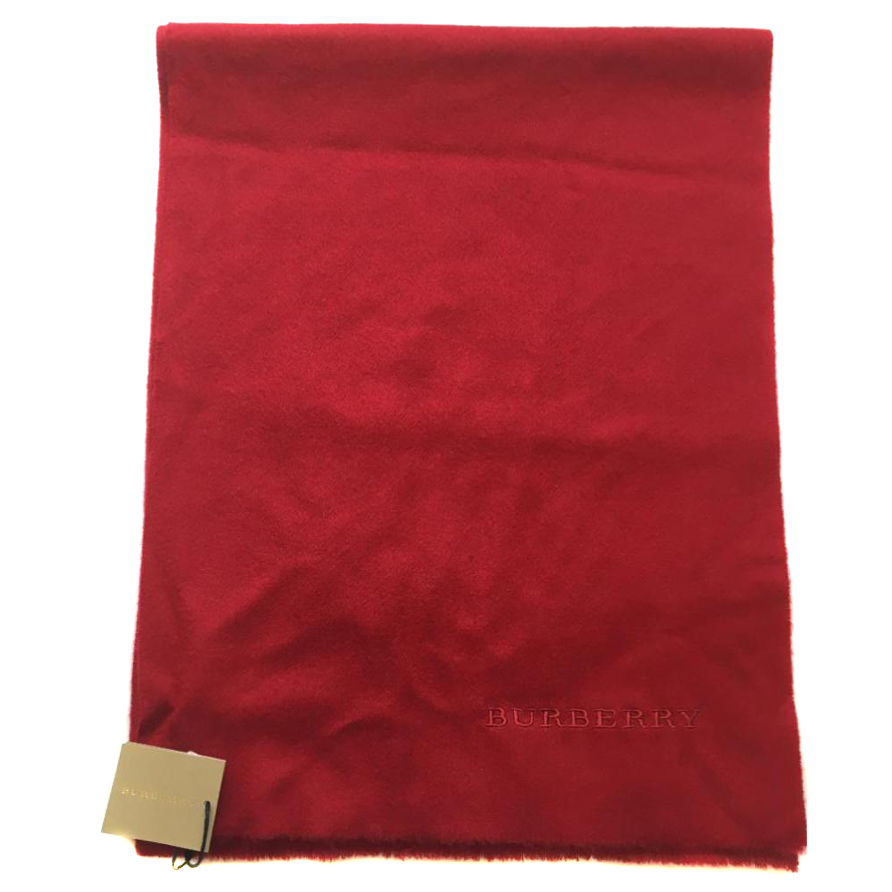 Burberry Red Cashmere Scarf