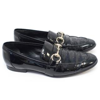 Gucci Black Patent Leather Loafers