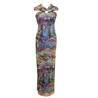 Jean Paul Gaultier Soleil Multicolour Graphic Printed Maxi Dress