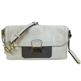 Miu Miu White Nappa Leather Chain Clutch Bag