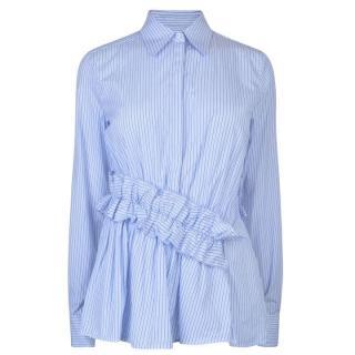 Victoria by Victoria Beckham Striped Ruffle Shirt