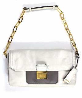 Miu Miu Vitello Soft Leather Chain Clutch Bag