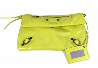 Balenciaga Green Classic Envelope Clutch