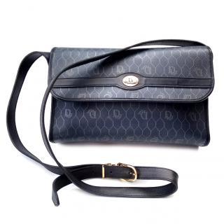 Christian Dior Vintage Navy Blue Monogrammed Shoulder / Crossbody Bag.