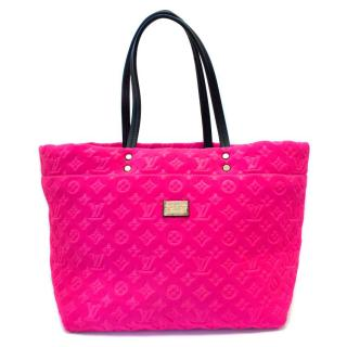 Louis Vuitton Limited Edition Fuchsia Scuba Monogram Tote