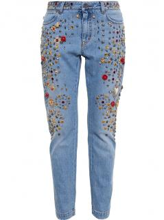 Dolce and Gabbana Runway Embellished Jeans