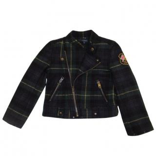 Ralph Lauren Tartan Biker Style Jacket Age 5