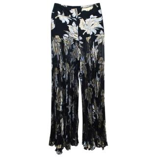 Dolce & Gabbana Black Trousers with Metallic Accents
