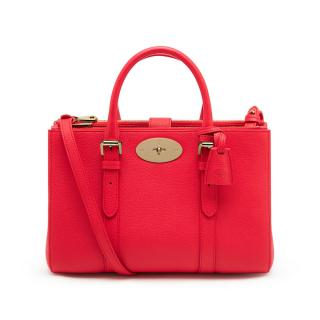 Mulberry Small Bayswater double zip tote in red
