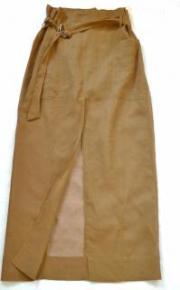 Brunello Cucinelli split-front cotton maxi skirt