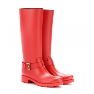 Mulberry Red Wellington Boots