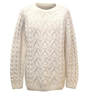 Maison Martin Margiela Men's Aran Cream Sweater