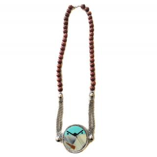 CELINE enamel necklace