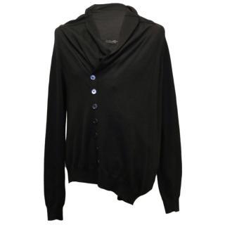 Alexander McQueen Men's Black Fine Knit Cardigan