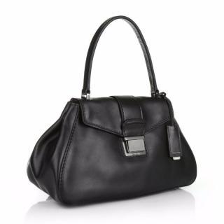 Miu Miu Pattina Montana Calf Leather in Black