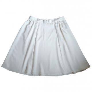 Theory Ivory Silk skirt