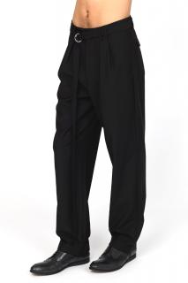 Unconditional AW16 Black Wool Box Pleat 'Hollywood' Trousers