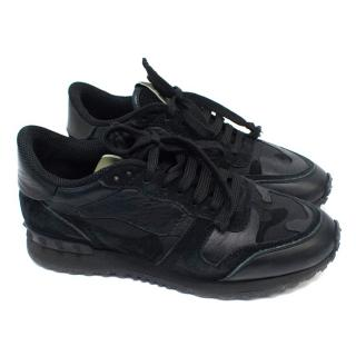 Valentino Black Camo Rockrunner Trainers