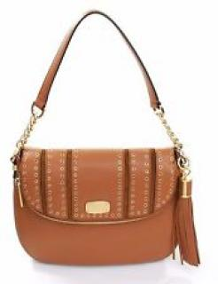 Michael Kors Mini Grommets Shoulder Bag Satchel Tan Acorn