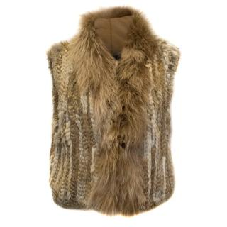 Elizabeth and James Rabbit and Fox Fur Vest