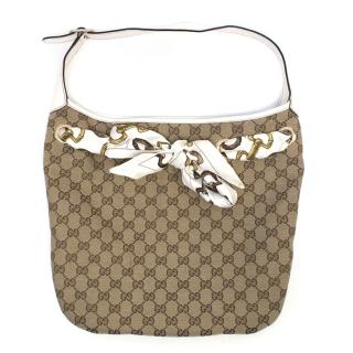 Gucci Tan Monogram Shoulder Bag