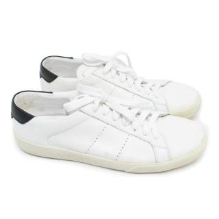 Saint Laurent White Low Top Leather Trainers
