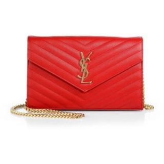 Saint Laurent Lipstick Red Monogram Shoulder bag