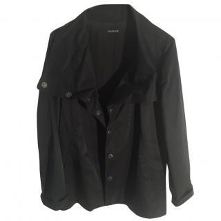 Eileen Fisher black waterproof hip length outdoor jacket