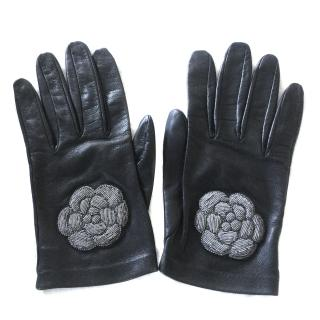 Chanel Lambskin Leather Gloves