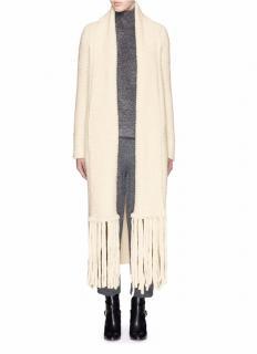 Chloe Tweedy White Scarf Coat