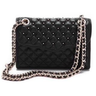 Rebecca Minkoff Quilted Mini Affair with Studs Shoulder Bag in Black