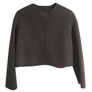 Joseph Cashmere and wool grey crop collarless jacket