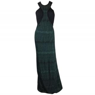 M Missoni Green and Black Gown