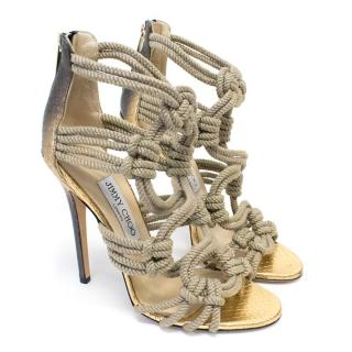 Jimmy Choo Rope and Snakeskin Heels