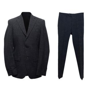 Acne Men's Navy Blue Wool Jacket and Trousers