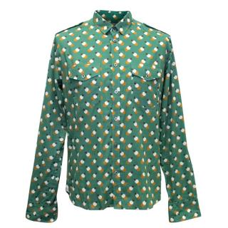 Paul & Joe Men's Multicolour Printed Cotton Shirt
