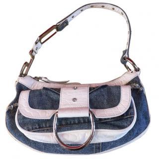 Dolce and Gabbana Denim and Leather Handbag
