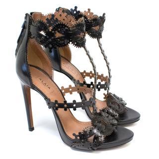Alaia Black Laser Cut Heels