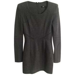Markus Lupfer grey long sleeve fitted stretchy dress