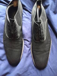 YSL Black Silk Loafers