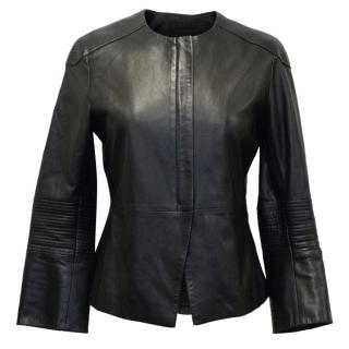 The Row Black Leather Jacket