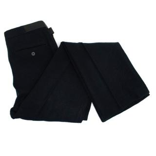 Lanvin Men's Black Wool Trousers