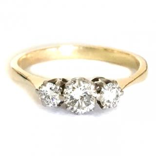 18ct Gold 0.60ct (approx) Diamond Trilogy Ring