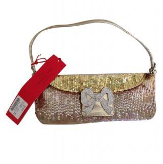 Valentino Sequin Bow Strass Evening Pochette Bag