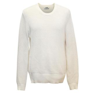 Acne Studios Men's Cream Knit Jumper