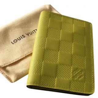Louis Vuitton acid yellow damier credit card case