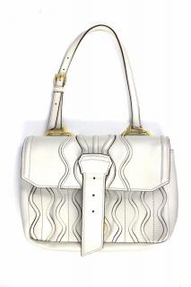 Miu Miu Leather Handbag in Ivory (missing part)