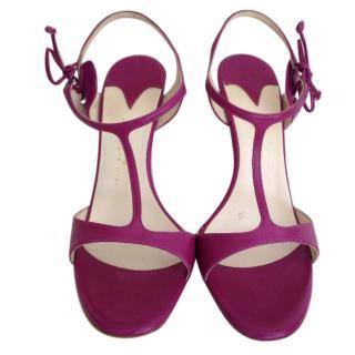 Alexandra Neel light purple ankle strap sandals