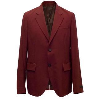 Prada Men's Oxblood Blazer